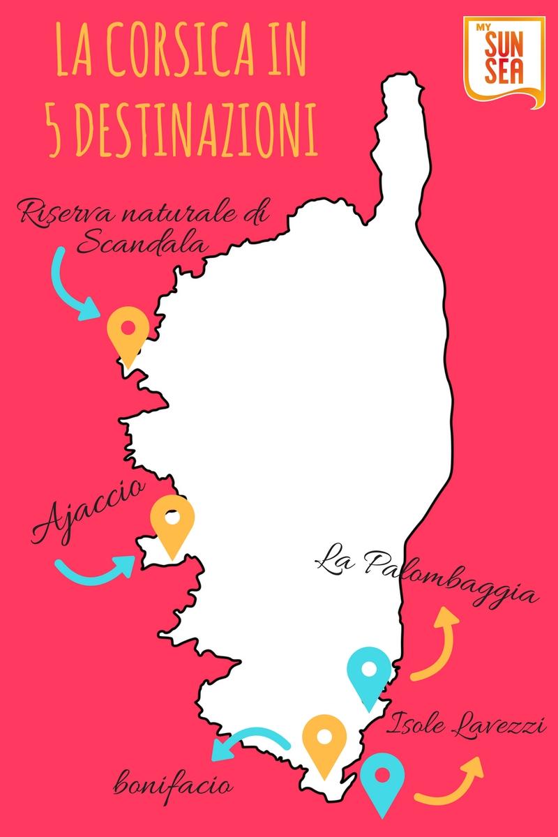 La Corsica in 5 destinazioni