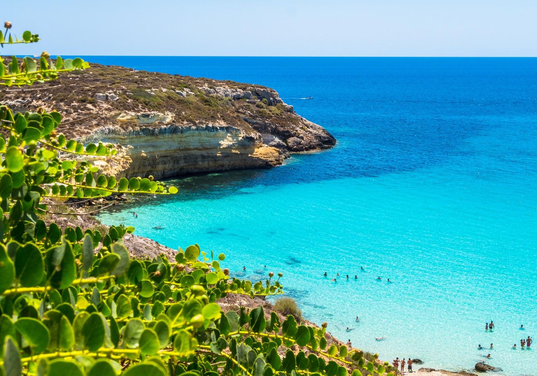 spiaggia Lampedusa ma re azzurro
